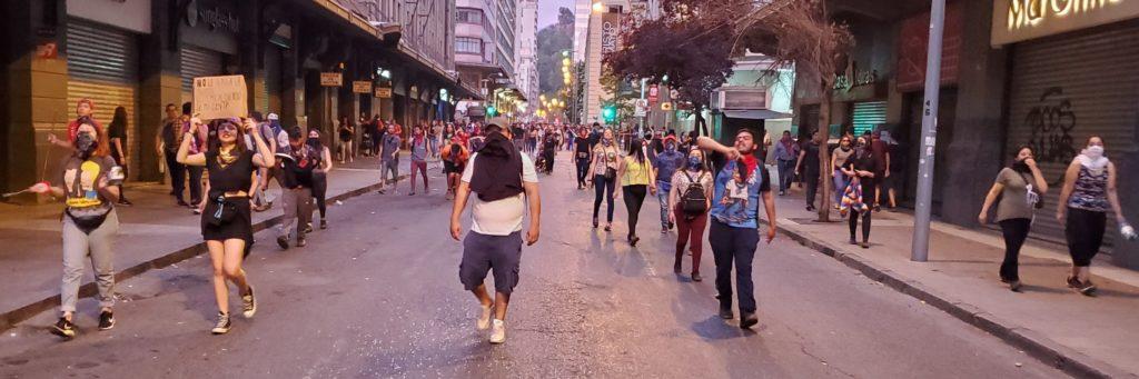 Demonstrators, Santiago, Chile, 25 Oct 2019