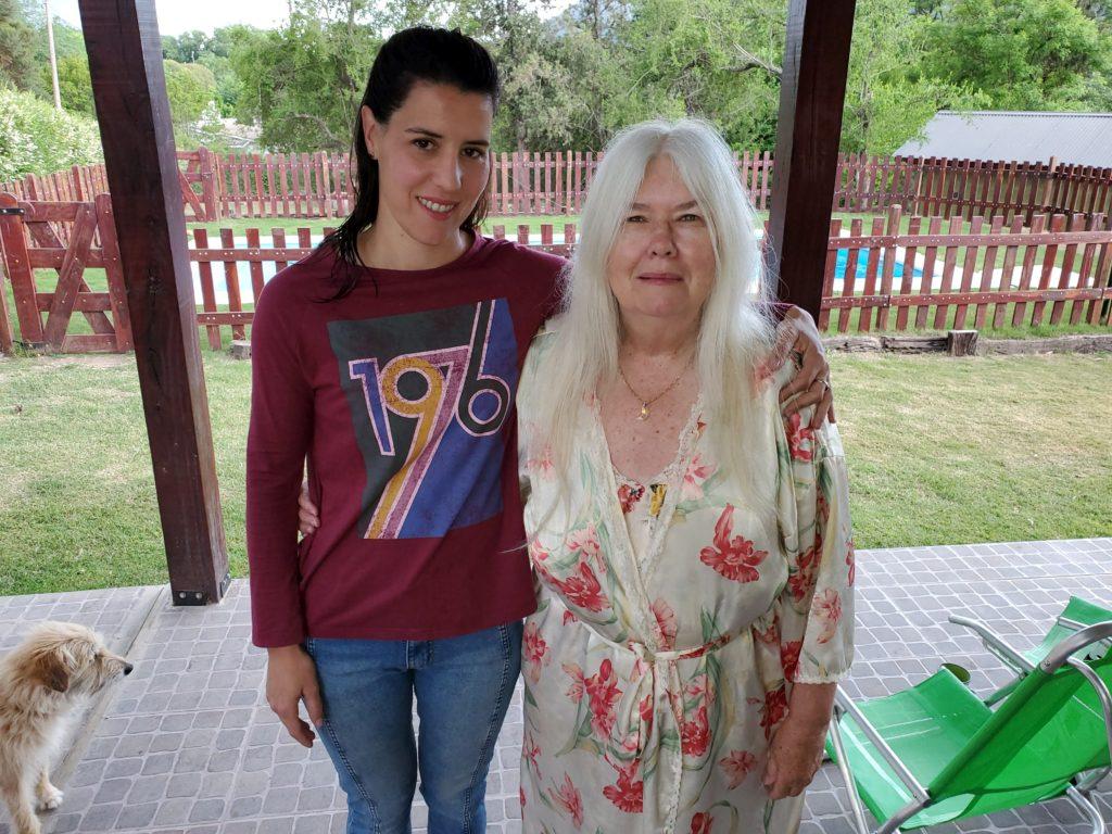 Yanina and Susan at Cabañas Kangarú