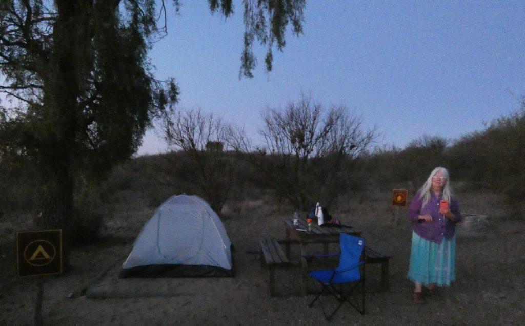 Sierra de los Quijadas campsite