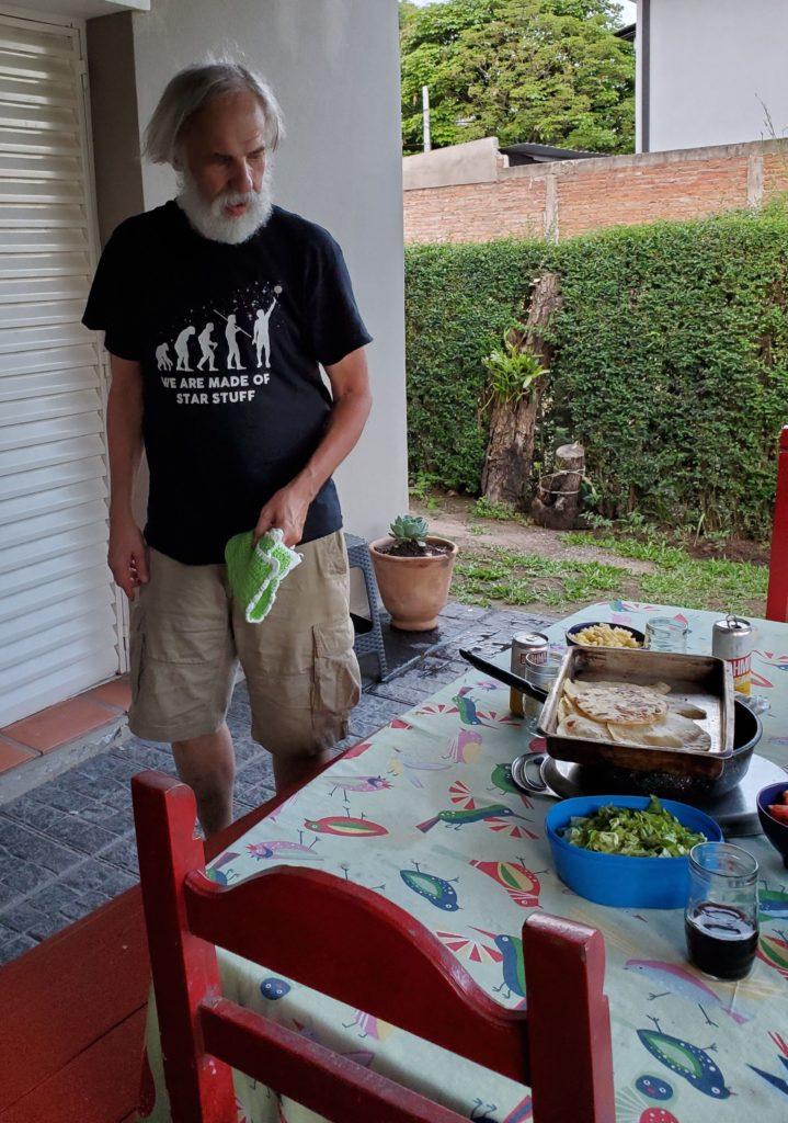 Delivering the tortillas to the table, La Providencia B&B