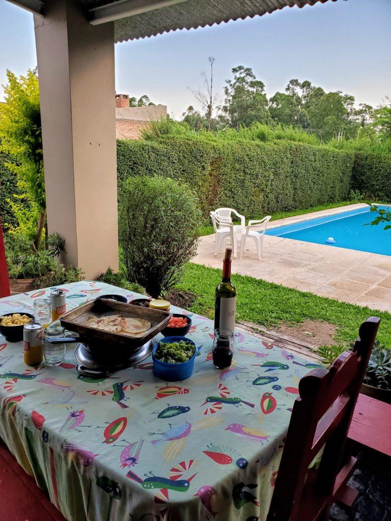 Tacos by the pool, La Providencia B&B