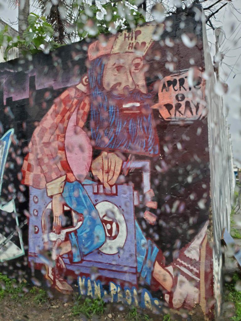 Mural in the rain